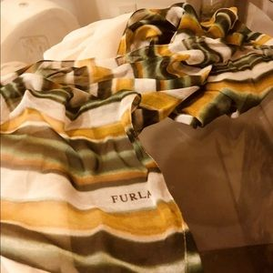 Authentic Furla Wraparound Scarf 100% Silk